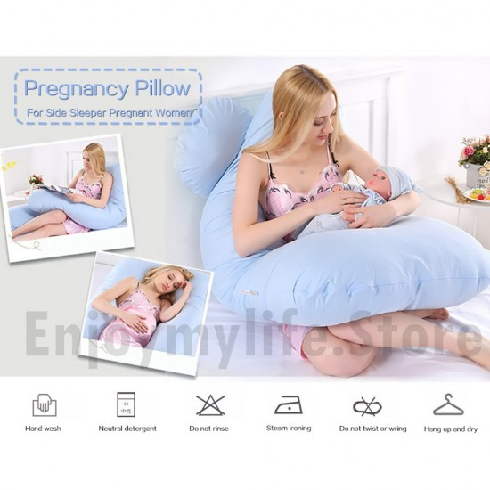 U Shaped Pregnancy Body Pillow with Zipper Removable Cover