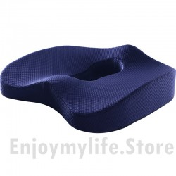 Non-Slip Orthopedic Coccyx Tailbone Pain Relief Memory Foam Seat Cushion