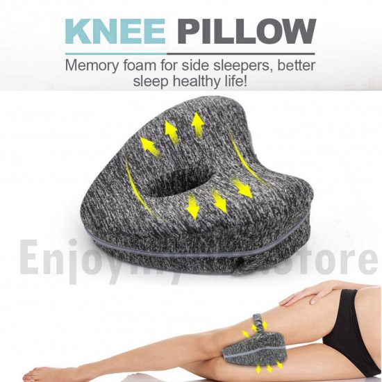 Memory Foam Orthopedic Knee Leg Pillow with Straps