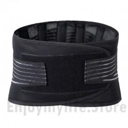 Dual Adjustable Straps Stabilizing Lower Back Brace Lumbar Support Belt