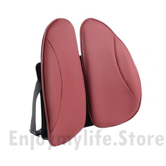 Adjustable Breathable PU Leather Lumbar Support Back Rest for Multi-use