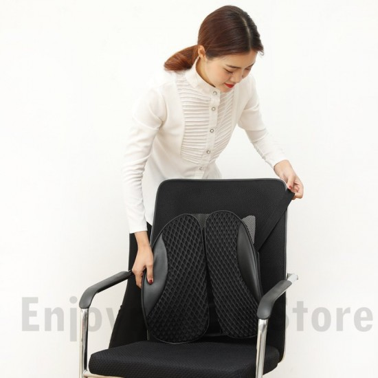 Adjustable Breathable PU Leather Back Rest Lumbar Support for Multi-use