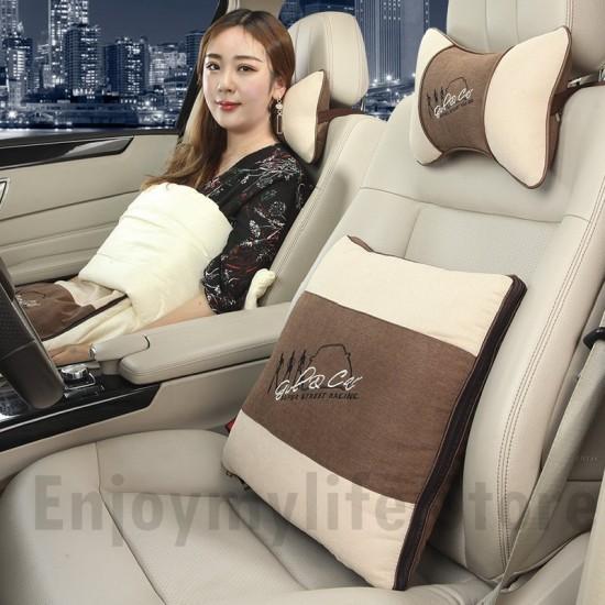 Shape-shift Cushion Lumbar Back Support Pillow with Neck Pillow Set