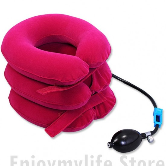 3 layer 1 pipe Cervical Neck Traction Device and Collar Brace-Neck Support & Stretcher