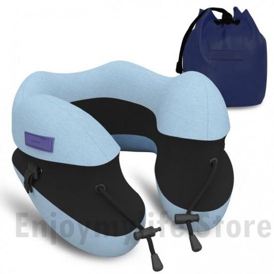 Adjustable Height U-Shape Memory Foam Travel Pillow