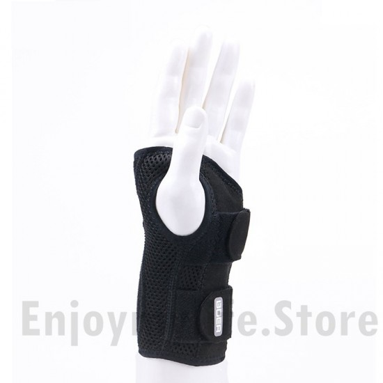 Carpal Tunnel Wrist Brace with Two Removable Splint and Adjustable Support Wrap