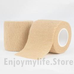 6 pcs Skin-Color Multi-Use Elastic Self Adhesive Bandage Tape